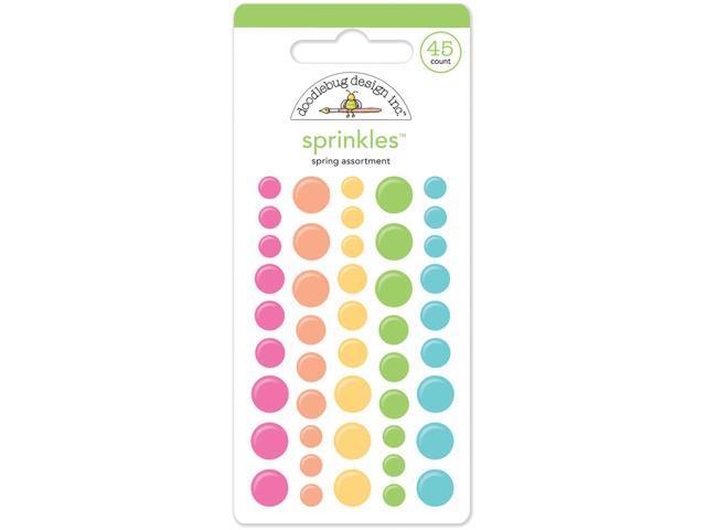 Springtime Sprinkles Glossy Enamel Stickers 45/Pkg-