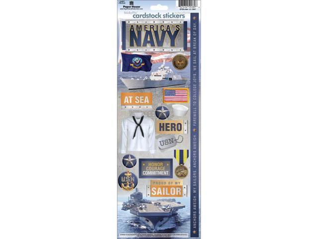 Cardstock Stickers-Navy