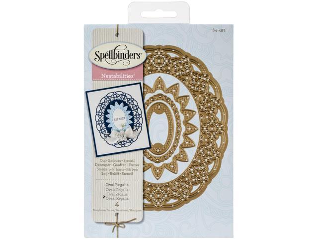 Spellbinders Nestabilities Decorative Elements Dies-Oval Regalia
