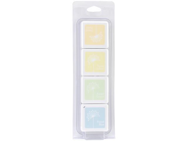 Hero Arts Dye Inks 4 Color Cubes-White Pastel
