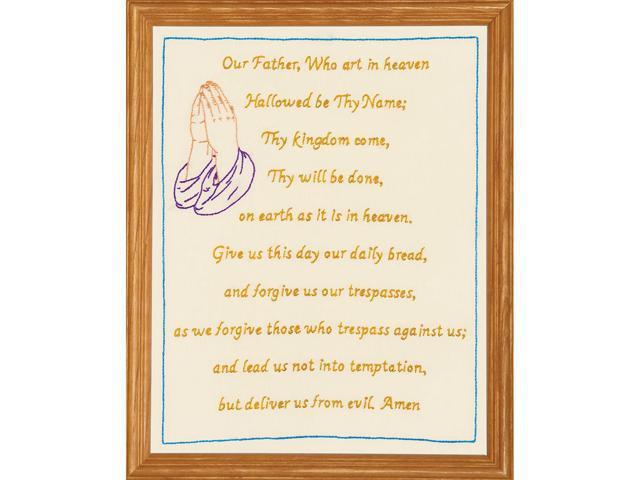 Jack Dempsey 171 126 Stamped Antique Sampler 11''X14''-Lord's Prayer