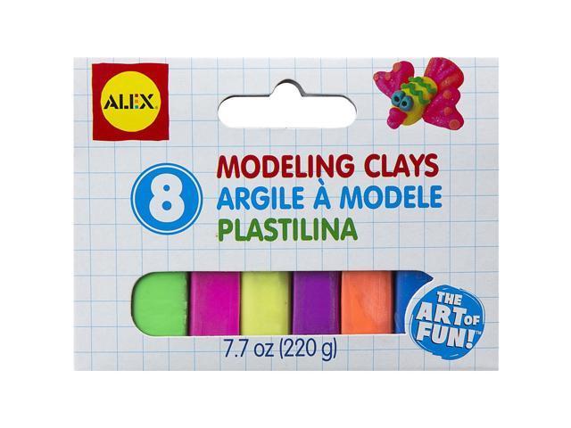 Modeling Clay Set 1oz 8/Pkg-Vivid Colors