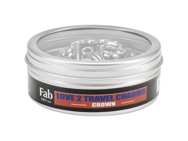 Silver Embellishments 15/Pkg-Crown