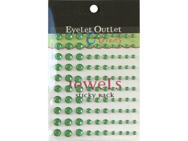 Bling Self-Adhesive Jewels Multi-Size 100/Pkg-Green