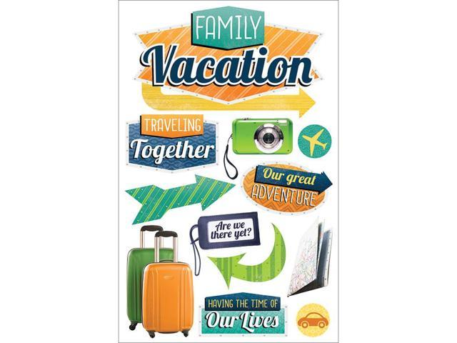 Paper House 3D Stickers-Family Vacation