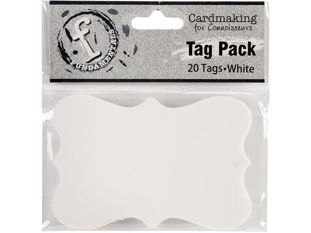 Fundamentals Tags 20/Pkg-Medium Scallop/White