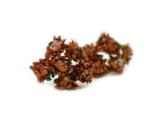 Vintage Tinsel Dahlias 10/Pkg-Chocolate