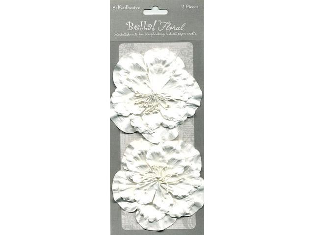 Bella! Paper Florals 2/Pkg-White