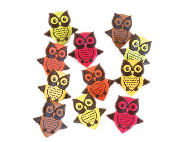 Eyelet Outlet Shape Brads-Owls Bright