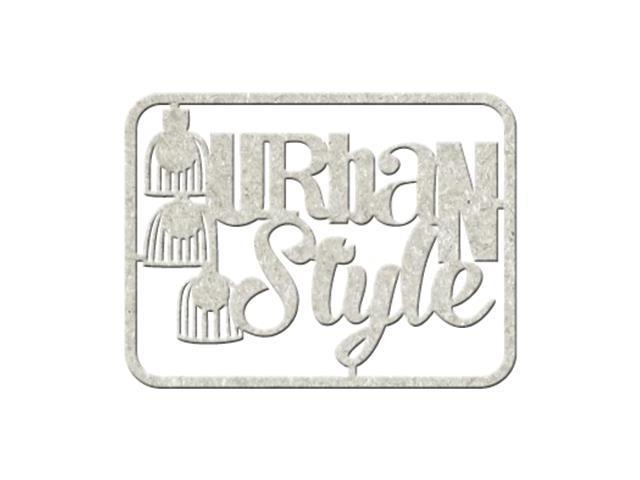 Die-Cut Gray Chipboard Word-Urban Style, 5