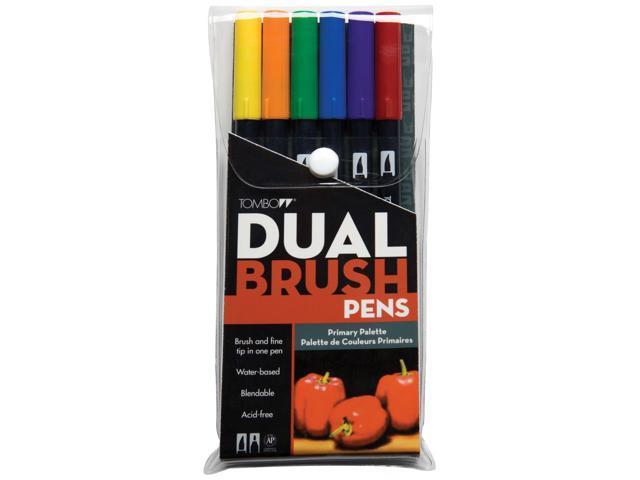 Tombow Dual Brush Pen Set 6/Pkg-Primary
