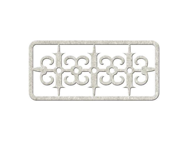 Die-Cut Gray Chipboard Embellishments-Decorative Border, 6