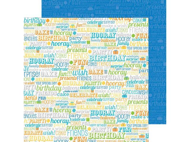 Hip Hip Hooray Double-Sided Cardstock 12