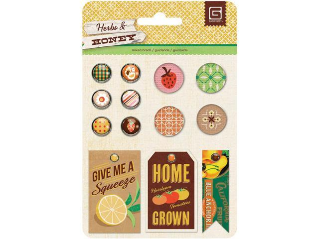 Herbs & Honey Mixed Brads 13/Pkg-