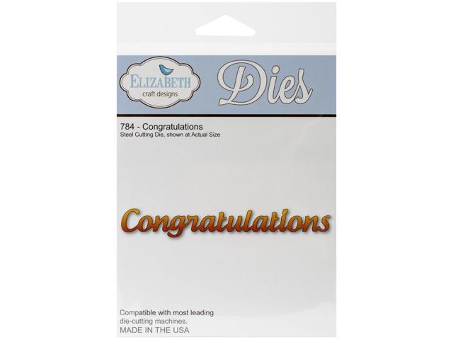 Elizabeth Craft Metal Die-Congratulations