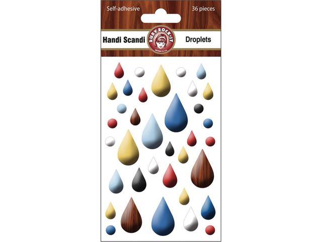 Handi Scandi Self-Adhesive Droplets 36/Pkg-Tear Drop