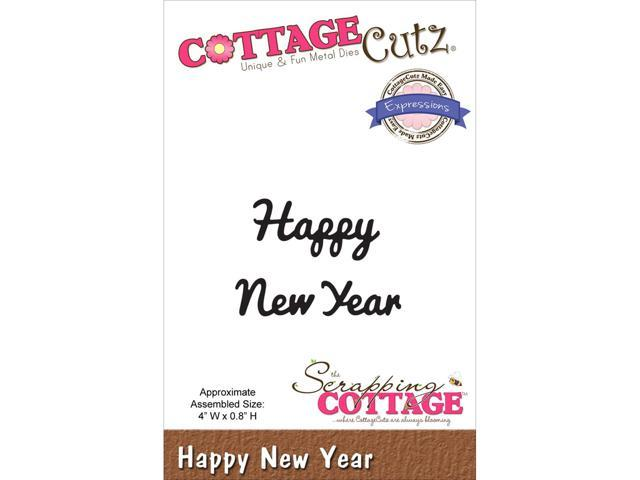 Cottagecutz Expressions Die-Happy New Year