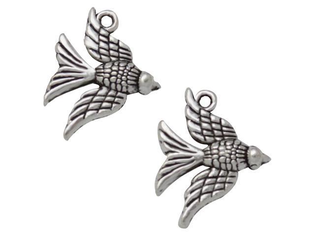 Silver Embellishments 30/Pkg-Birds For Bird's Nest