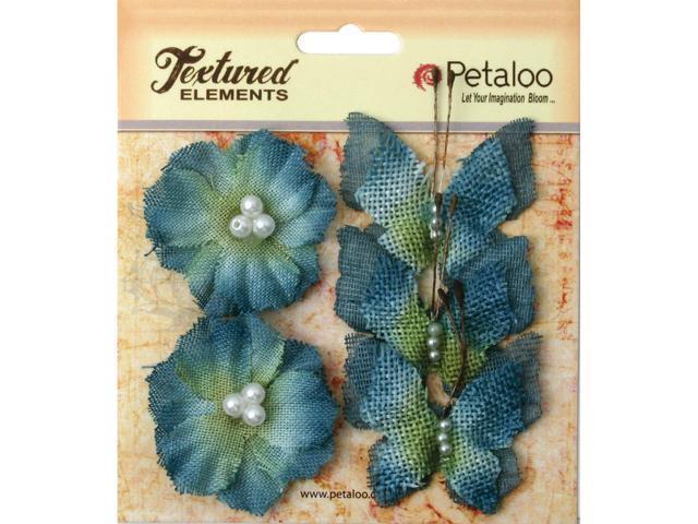 Textured Elements Burlap Butterflies/Blossoms 1.5
