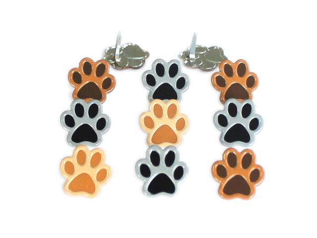Eyelet Outlet Shape Brads-Paws