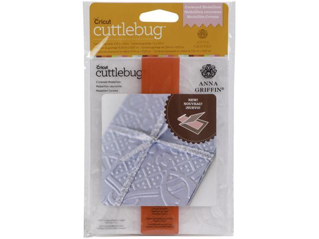 Cuttlebug A2 Embossing Folder/Border Set-Crown Medallion By Anna Griffin