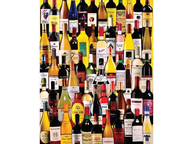 Charlie Girard Wine Bottles 1000 Piece Puzzle by White Mountain Puzzles