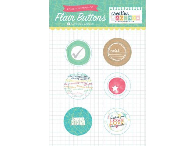Creative Agenda Flair Button Pins 6/Pkg-