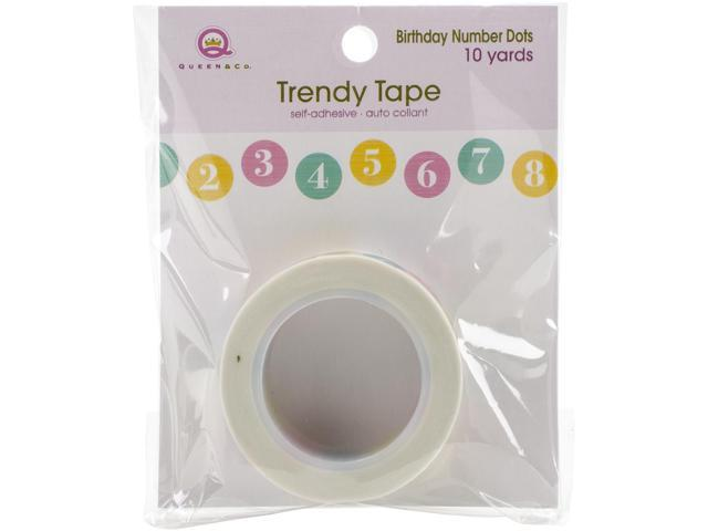 Queen & Co. Trendy Tape-Birthday Numbers/Dots