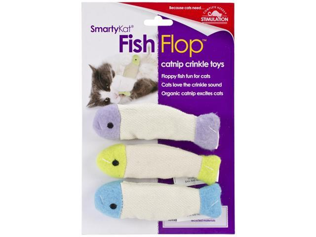 SmartyKat FishFlop Catnip Crinkle Toy 3 Pack-