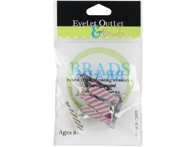 Eyelet Outlet Shape Brads 12/Pkg-Tie