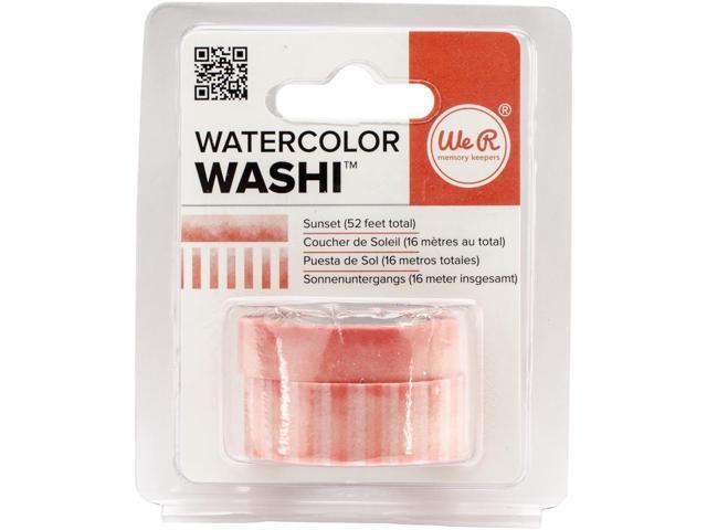 We R Watercolor Washi Tape 2/Pkg-Sunset