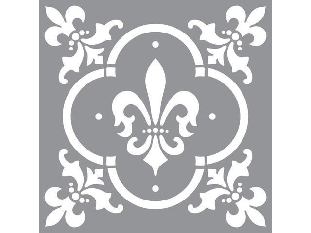 Americana Decor Stencil-Fleur De Lis Tile