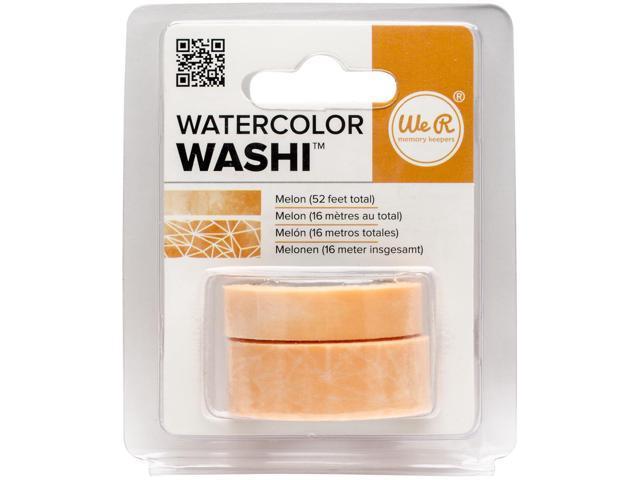 We R Watercolor Washi Tape 2/Pkg-Melon