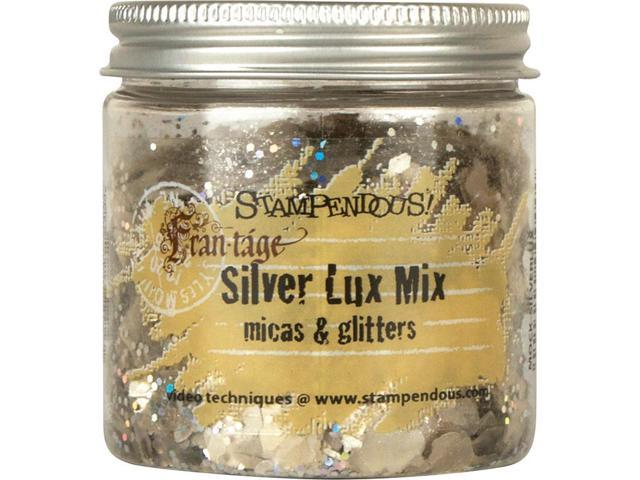 Stampendous Micas & Glitters Lux Mix 1.27Oz -Silver