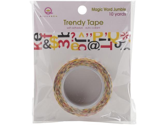 Magic Trendy Tape 15Mm X 10Yds-Letter Jumble