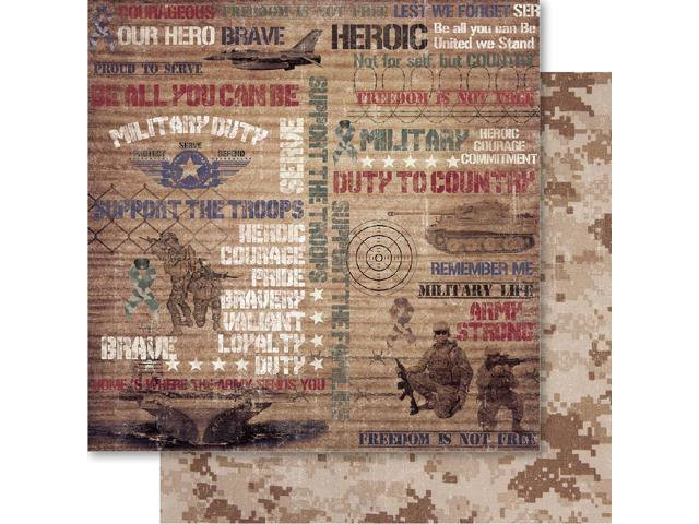 Military Double-Sided Cardstock 12