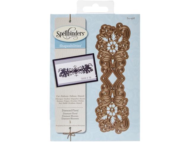 Spellbinders Shapeabilities Dies-Diamond Floral