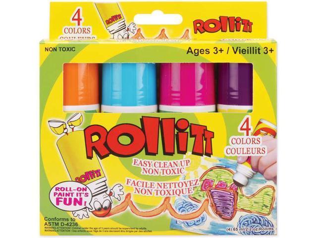 Rollitt Paint Applicators 2.2oz 4/Pkg-Bright