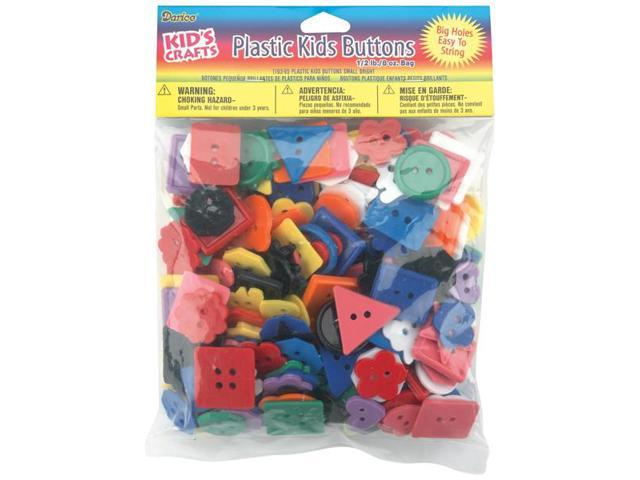 Plastic Kids Buttons .5lb-Assorted