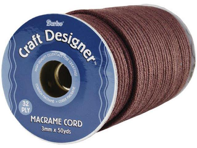 Macrame Cord 32-Ply 3mmX50yd-Brown Poly