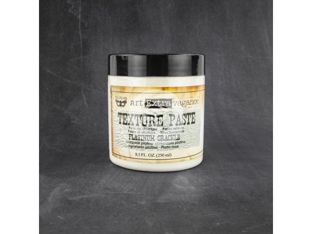 Art Extravagance Texture Paste 8.5Oz-Platinum Crackle
