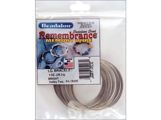 Remembrance Memory Wire Bracelet .62mm .25oz-Bright - 60 Coils