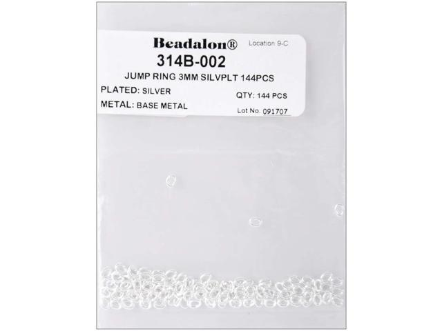 Jump Rings 3mm 144/Pkg-Silver-Plated