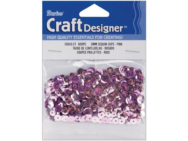Cupped Sequins 5mm 800/Pkg-Pink