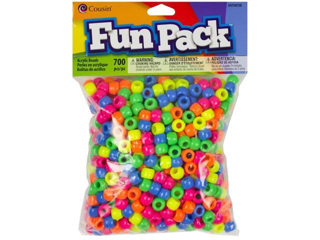 Fun Pack Acrylic Pony Beads 700/Pkg-Neon
