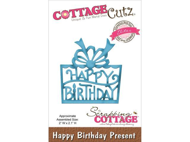 Cottagecutz Elites Die-Happy Birthday Present