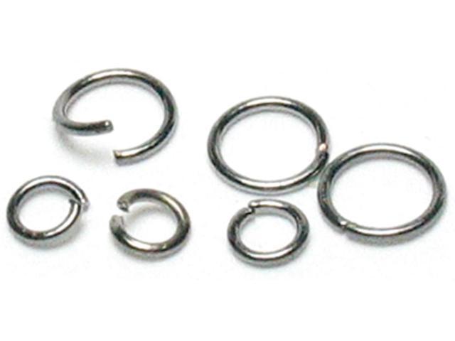 Jewelry Basics Metal Findings 400/Pkg-Gunmetal Jump Rings 4mm To 6mm