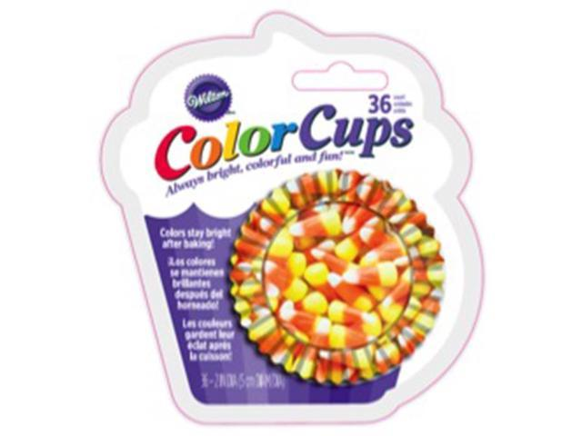 Clearcup Standard Baking Cups-Photo Candy Corn 36/Pkg