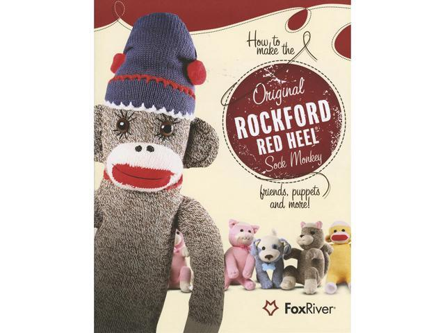 Red Heel Sock Monkey Pattern Book-