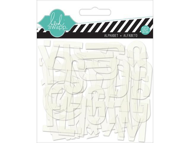 Hello Today Clear Pop Acrylic Alphabet-White .75